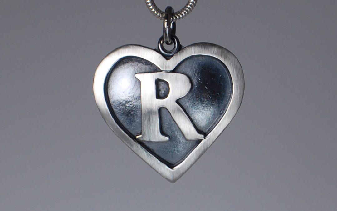 R Heart Pendant