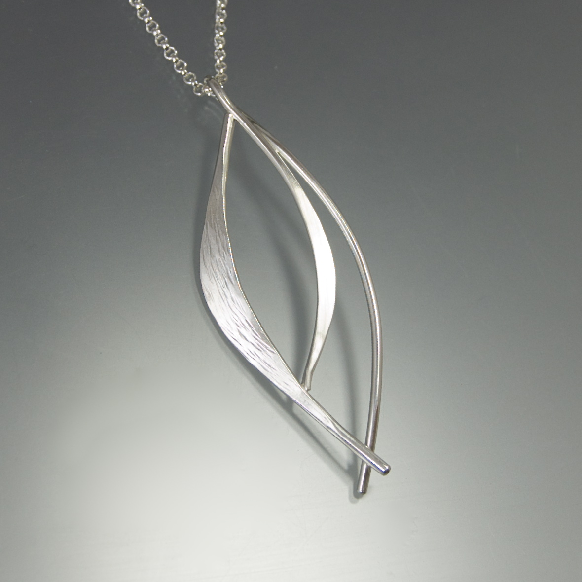 silver store maple pendant leaf